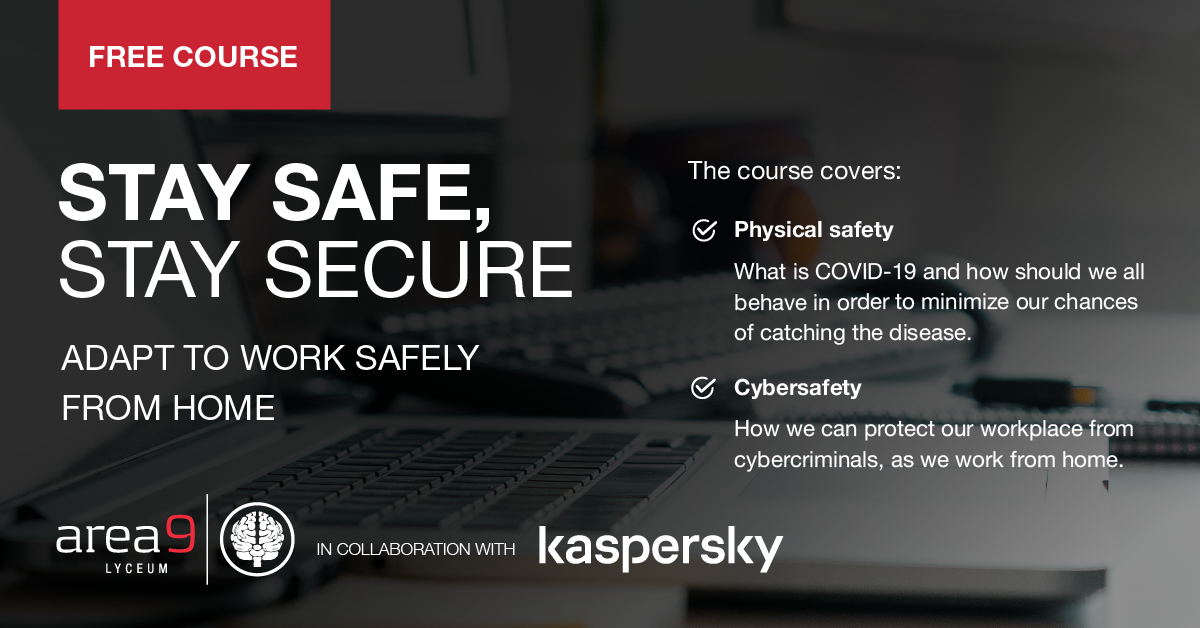 "Kaspersky and Area9 Lyceum launches free course ""Stay safe, Stay secure"""